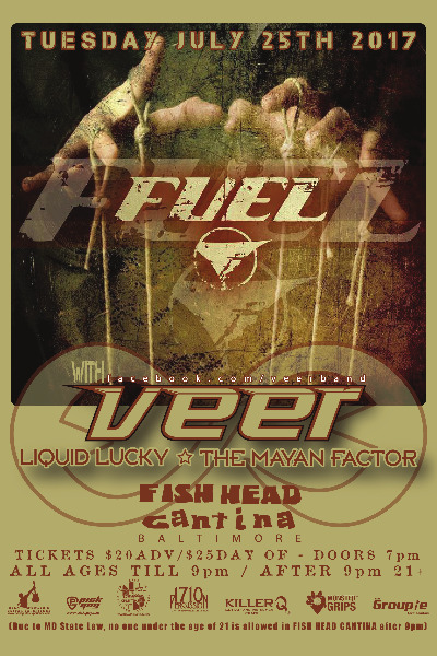 Poster Image - Supporting 'Fuel' at 2017 Fishhead Cantina