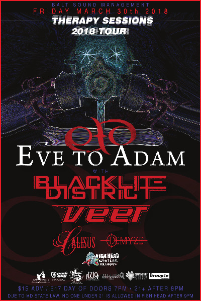 Poster Image - Supporting 'Eve To Adam' 2018 at Fishhead Cantina