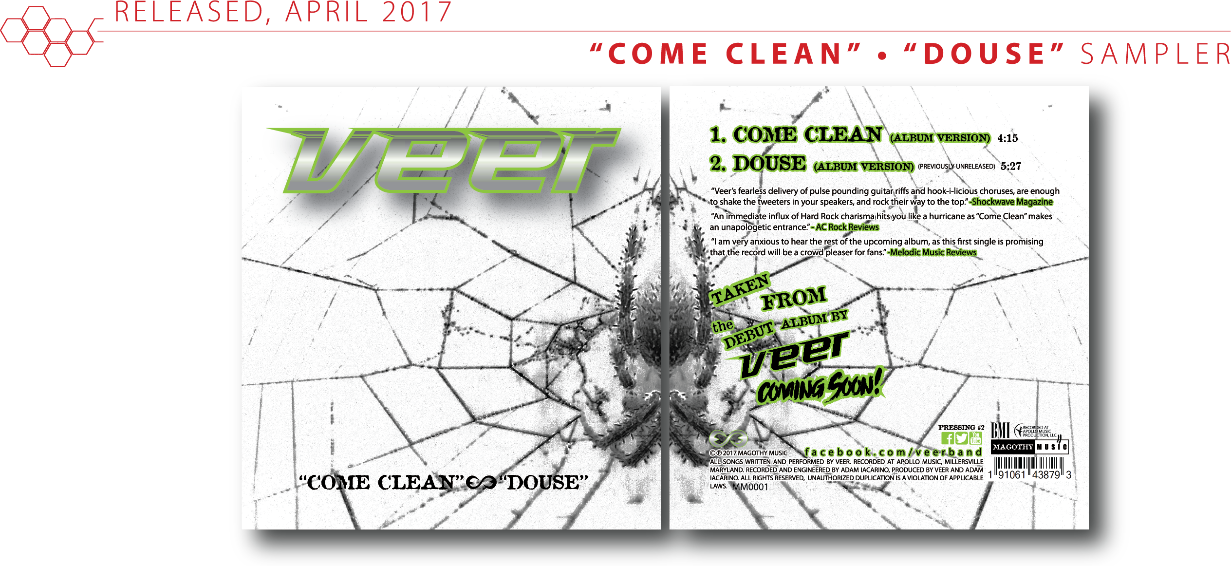 EP 'Come Clean/Douse'